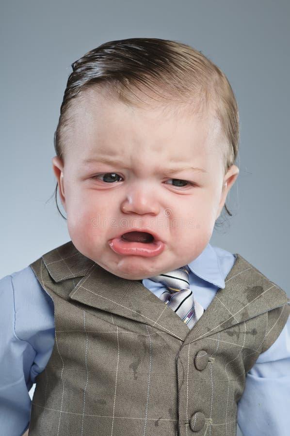 Płaczu dziecka biznesmen obraz stock