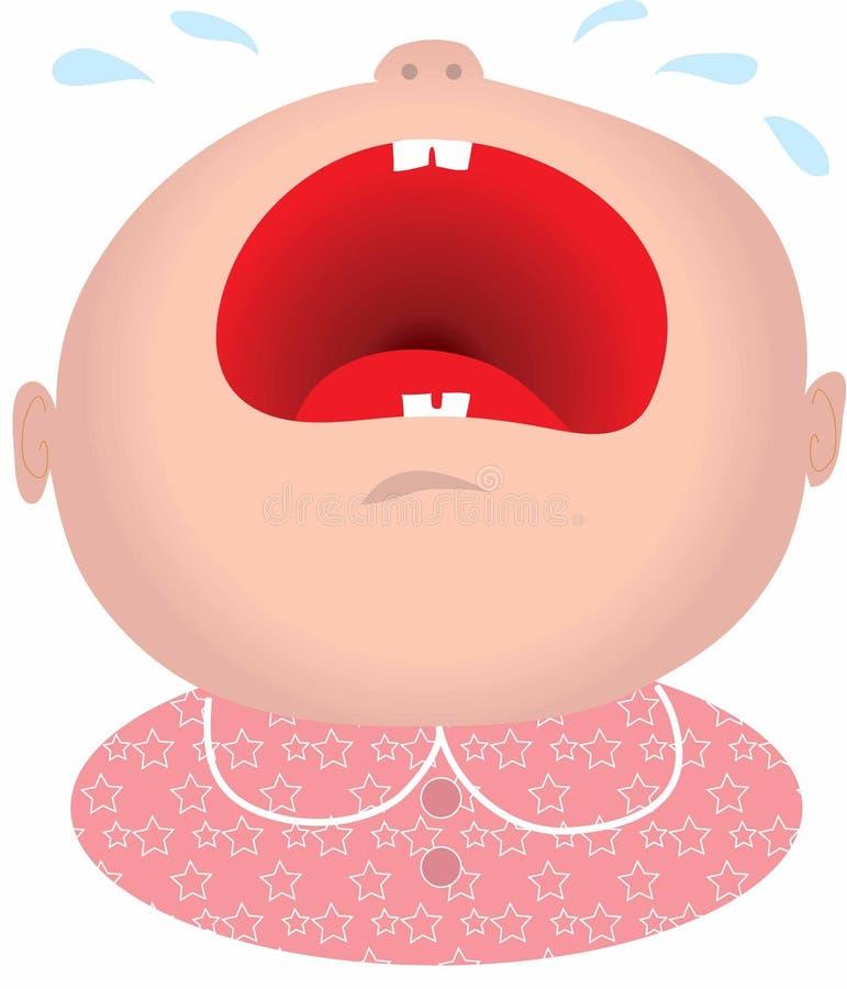 płaczu dziecka dziewczyna ilustracja wektor