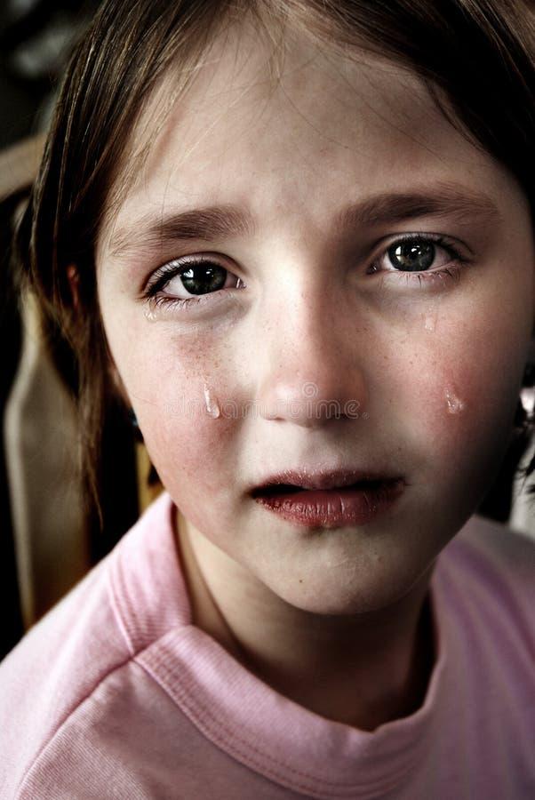 płaczu dziewczyny małe łzy obraz stock