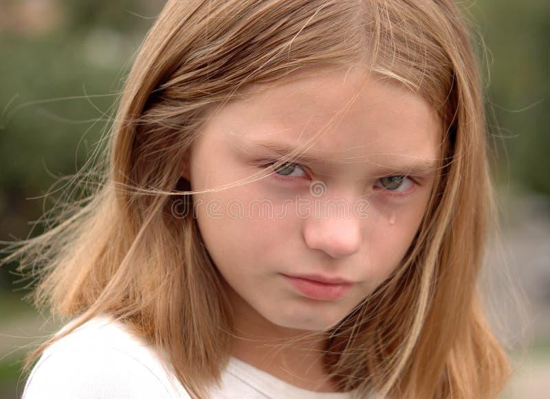 płaczu dziewczyny portret zdjęcia stock