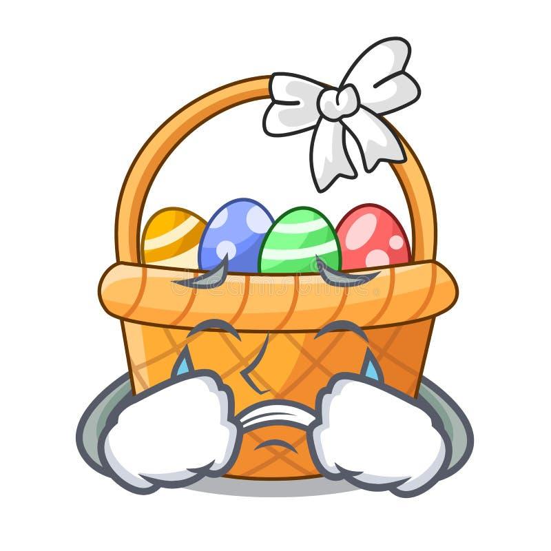 Płaczu Easter kosza miniatura kształt maskotka royalty ilustracja