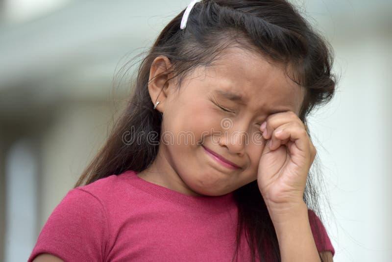 Płaczu filipinka Młoda dziewczyna obrazy royalty free