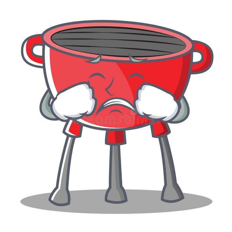 Płaczu grilla grilla postać z kreskówki ilustracja wektor