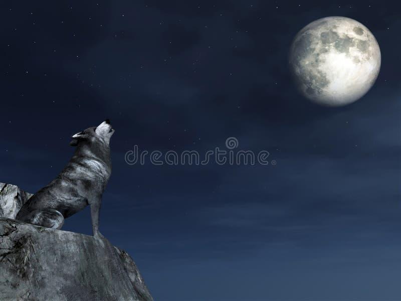płaczu wilk ilustracja wektor