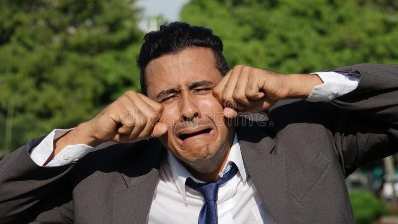Płakać biznesowego mężczyzna obraz stock