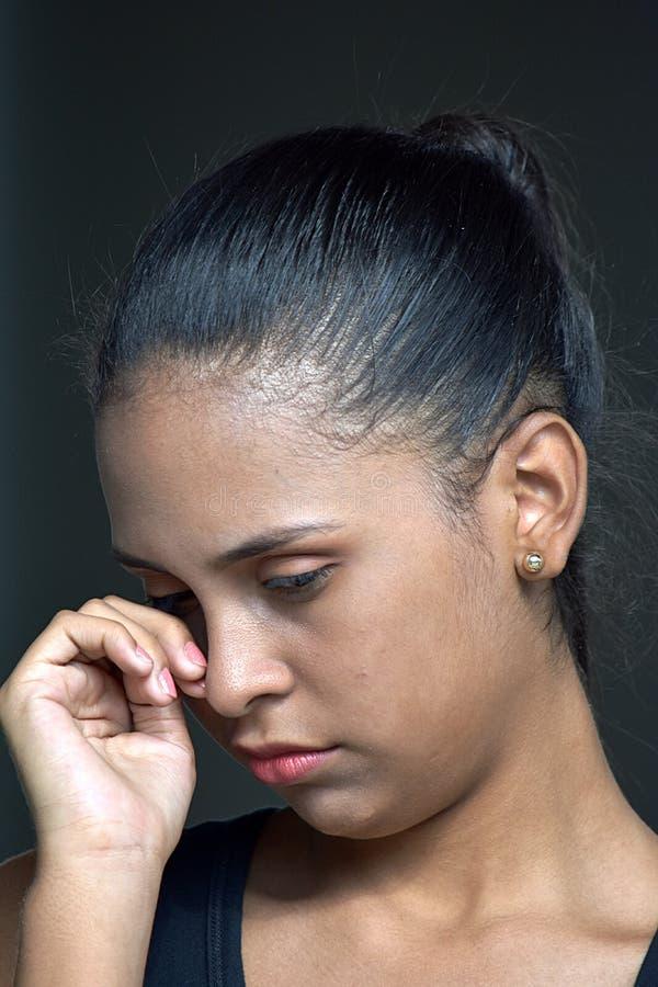 Płakać Pięknej dziewczyny młodości obraz royalty free