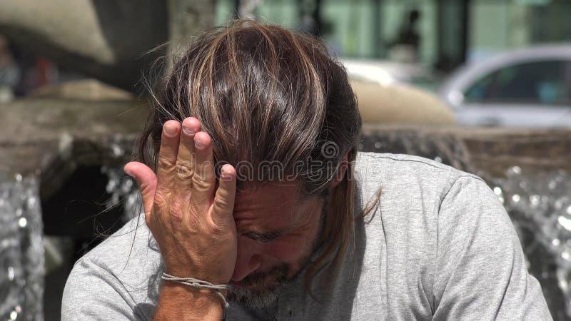 Płakać Przystojnej osoby zdjęcie royalty free