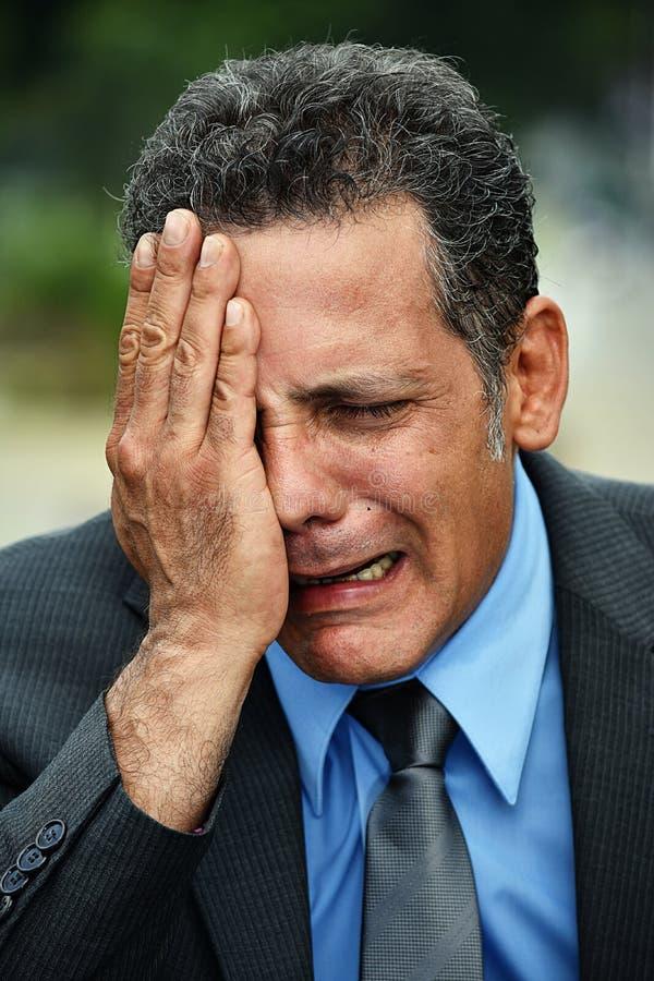 Płakać Przystojnej osoby zdjęcia stock