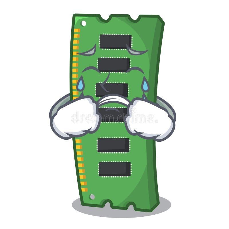 Płakać RAM kartę pamięci w peceta charakterze royalty ilustracja