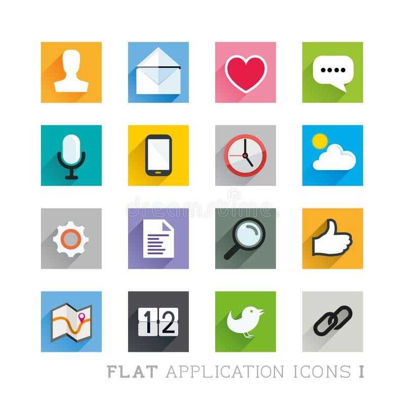 Płascy ikona projekty - zastosowania ilustracja wektor