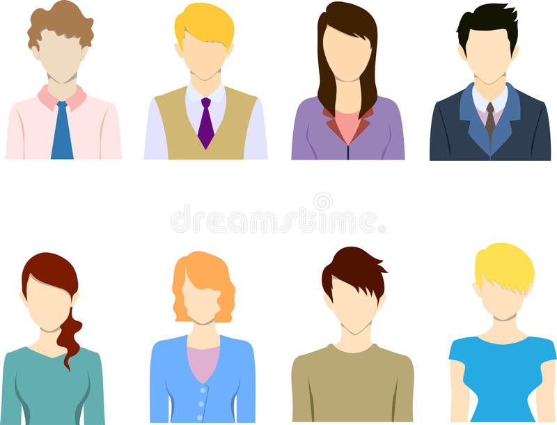 Płascy ludzie biznesu ikony ikony płaskiego avatar ilustracja wektor
