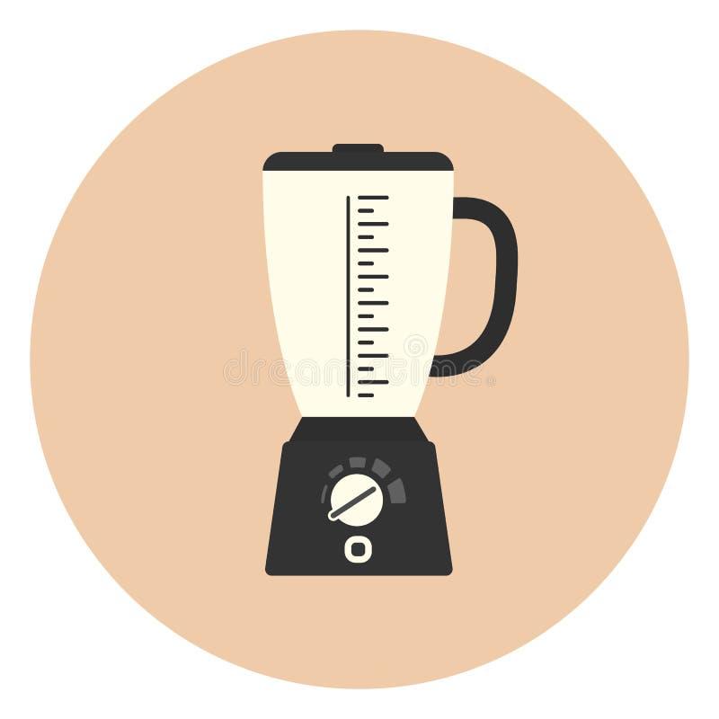 Płaska blender ikona, kuchenny melanżeru symbol, urządzenie ilustracja wektor
