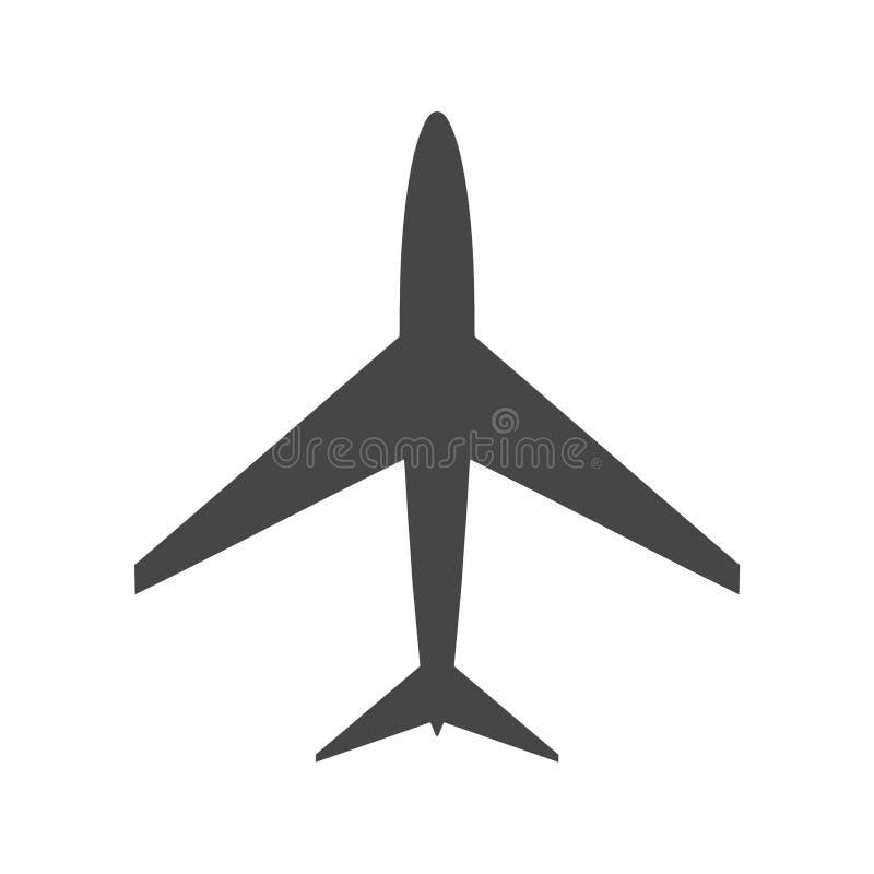 Płaska i samolotowa ikona ilustracja wektor