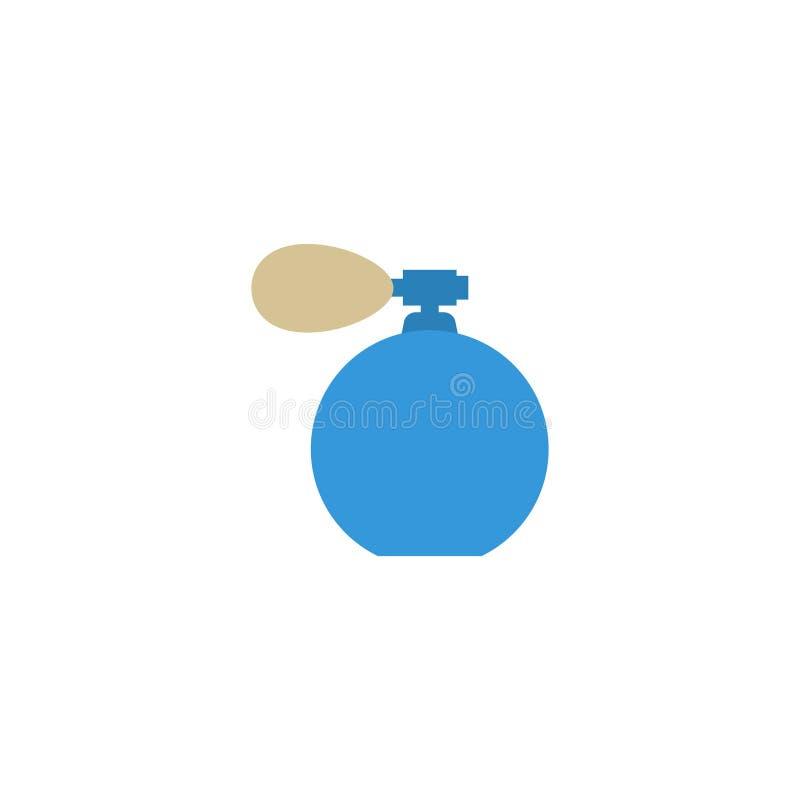 Płaska ikona Perfumuje butelka element Wektorowa ilustracja Płaski ikona dezodorant Odizolowywający obrazy royalty free