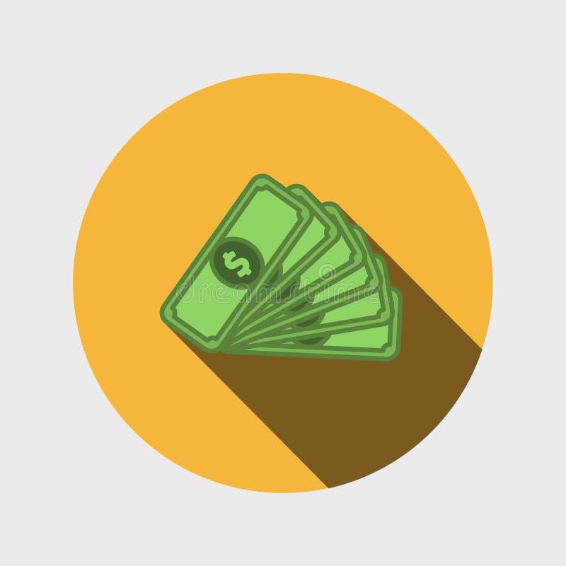 Płaska ikona pieniądze ilustracja wektor