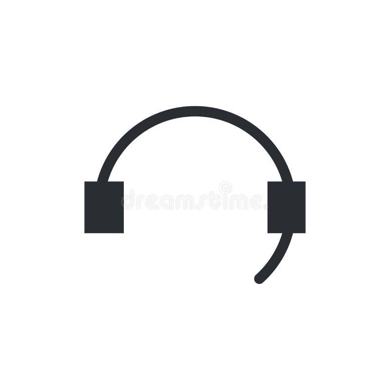Płaska ikona poparcie Podpisuje centrum telefoniczne Kontaktowy techniczny symbol Wywoławcza technika Wektorowa ilustracja odizol royalty ilustracja