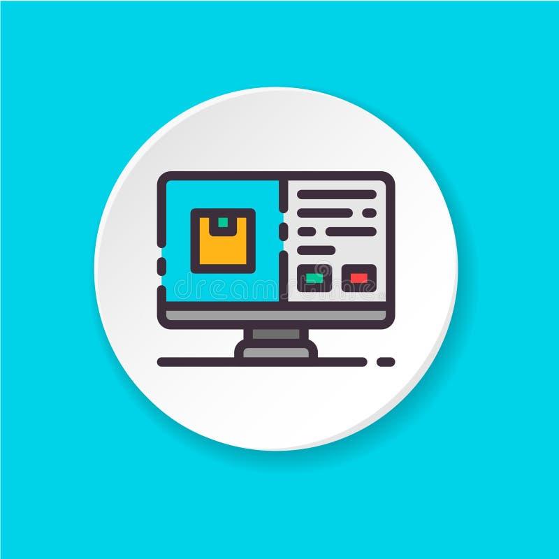 Płaska ikony kasa UI/UX interfejs użytkownika royalty ilustracja