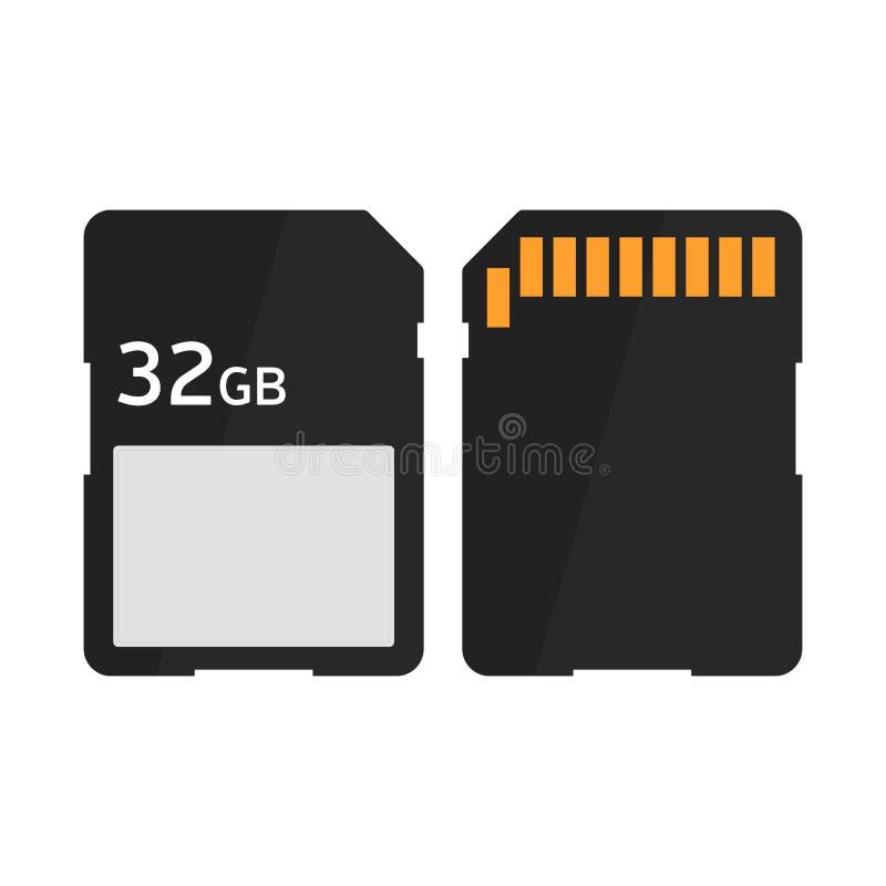 Płaska ikony SD karta pamięci ilustracja wektor