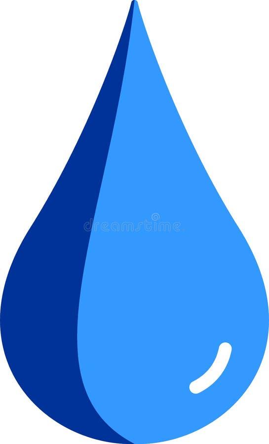 Płaska ilustracja błękitne wody kropla zdjęcia royalty free