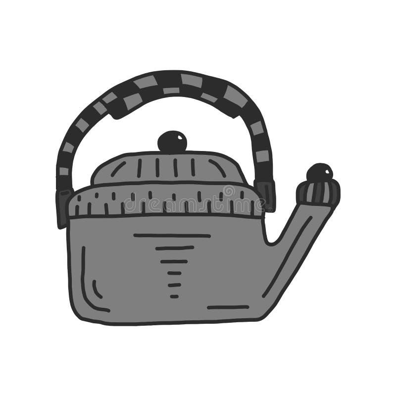 Płaska ilustracja wektorowy czajnik Herbata odizolowywaj?ca na bia?ym tle szyldowy symbol ilustracji
