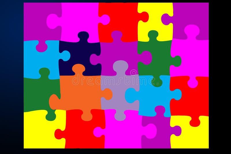 płaska jigsaw royalty ilustracja