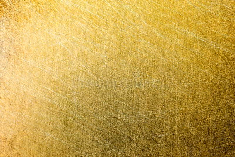 Płaska matte oczyszczona mosiężna tekstura obraz stock