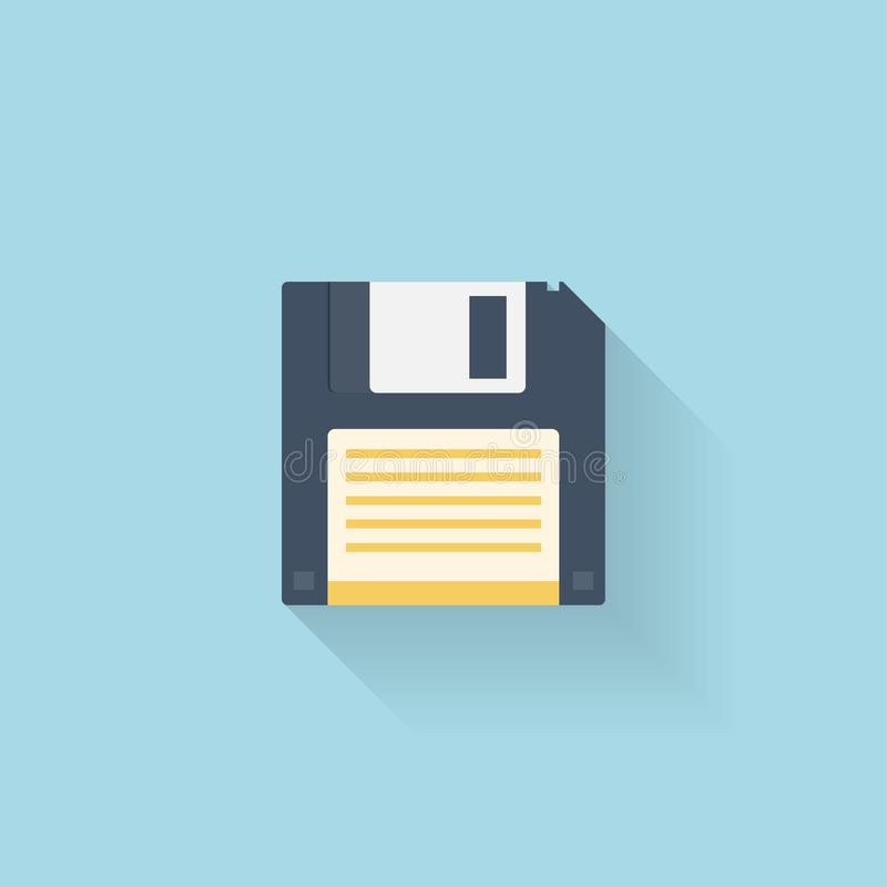 Płaska opadającego dyska ikona dla sieci ilustracja wektor