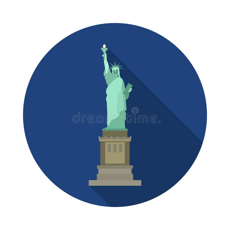 Płaska statuy wolności ikona fotografia royalty free