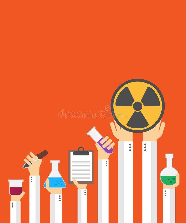 Płaska substanci chemicznej karta royalty ilustracja