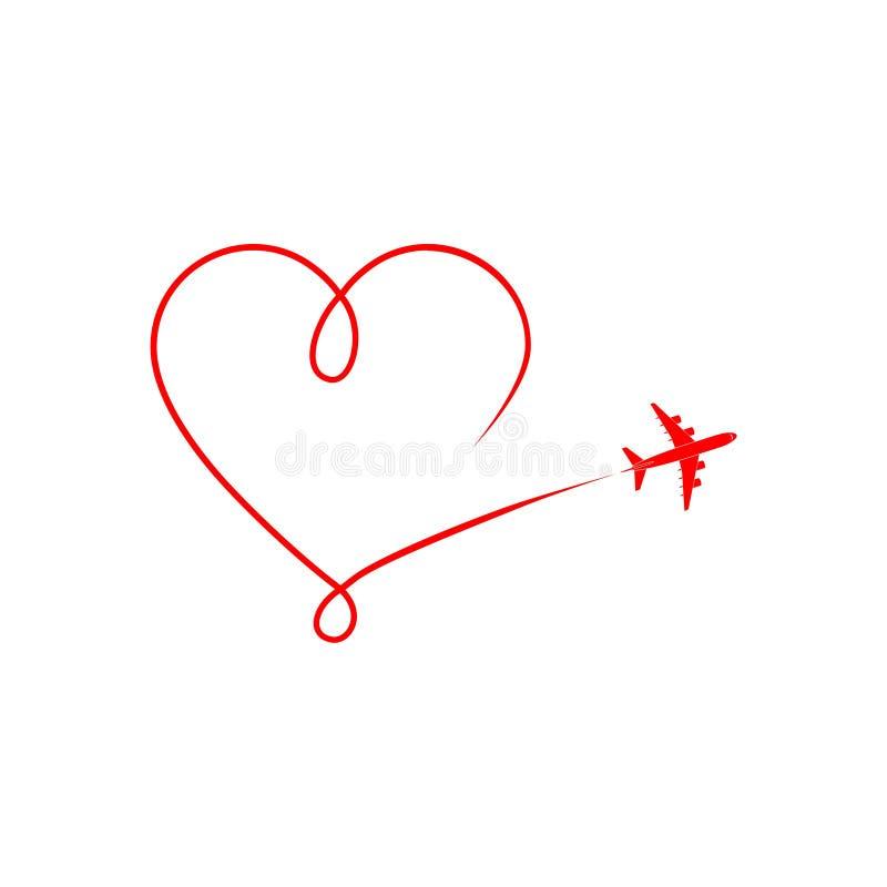 Płaska sylwetka na białym tle, Samolotowym logo lub ikonie, royalty ilustracja