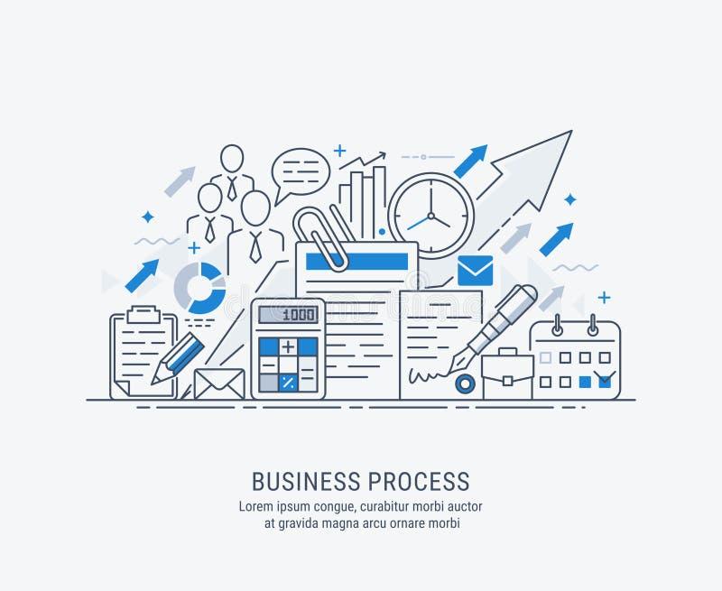 Płaska sztuki ilustracja rozwój biznesu royalty ilustracja