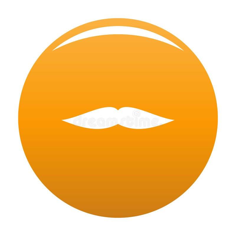Płaska wąsy ikony pomarańcze ilustracja wektor