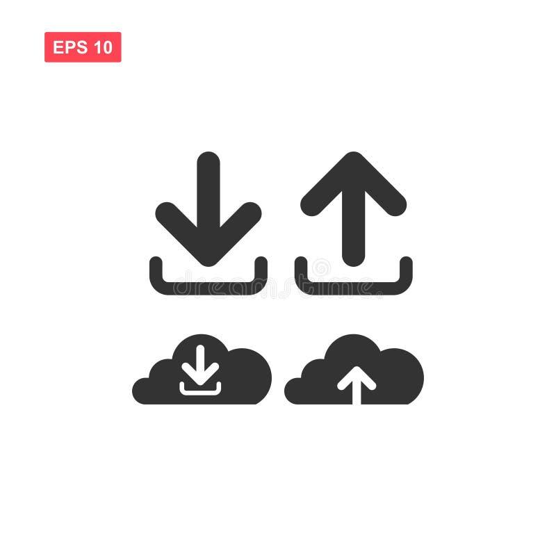Płaska wektorowa ściąganie ikona od obłocznego symbolu ilustracji