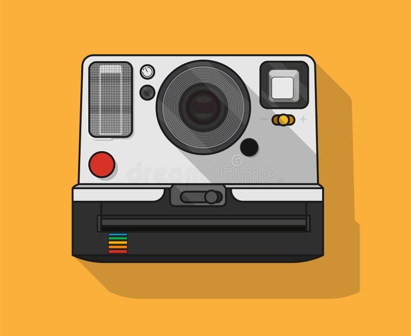 Płaska Wektorowa ilustracja polaroid kamera zdjęcie royalty free