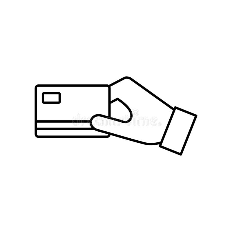 Płaska Wektorowa karty kredytowej zapłaty ikona royalty ilustracja