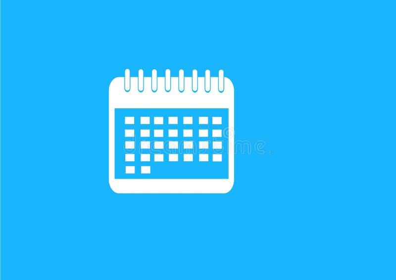 Płaski błękita kalendarza rozkład ilustracja wektor