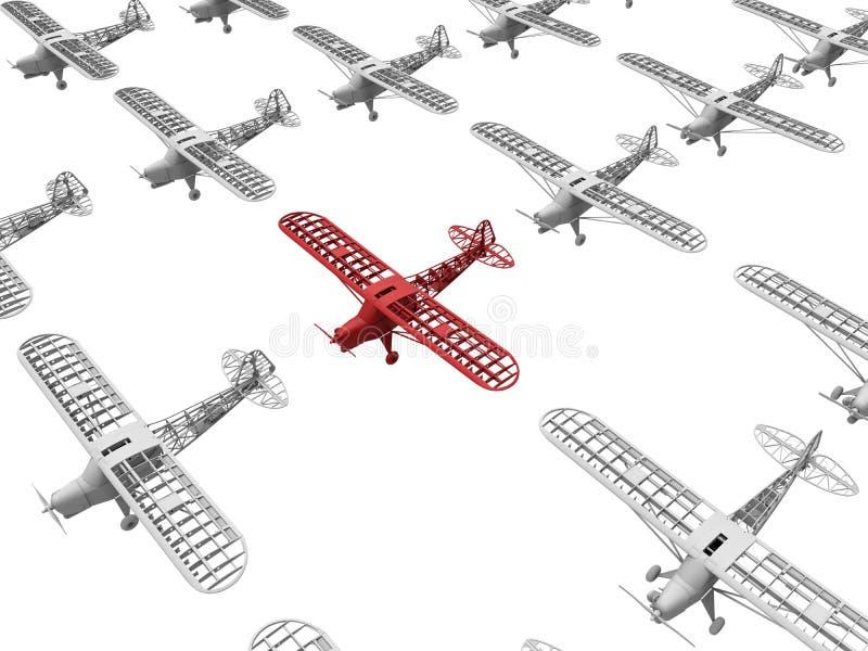 Płaski cel w lotniczej floty pojęciu ilustracja wektor