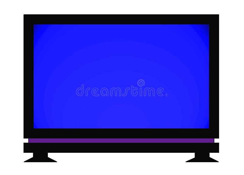 płaski ekran tv royalty ilustracja