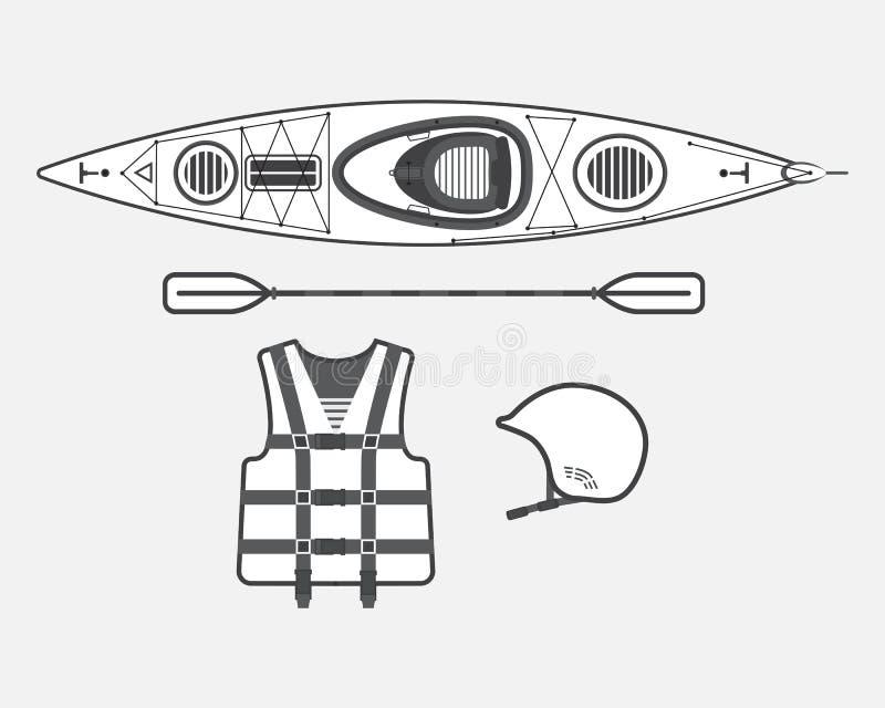 Płaski flisactwo ustawia czarny i biały royalty ilustracja