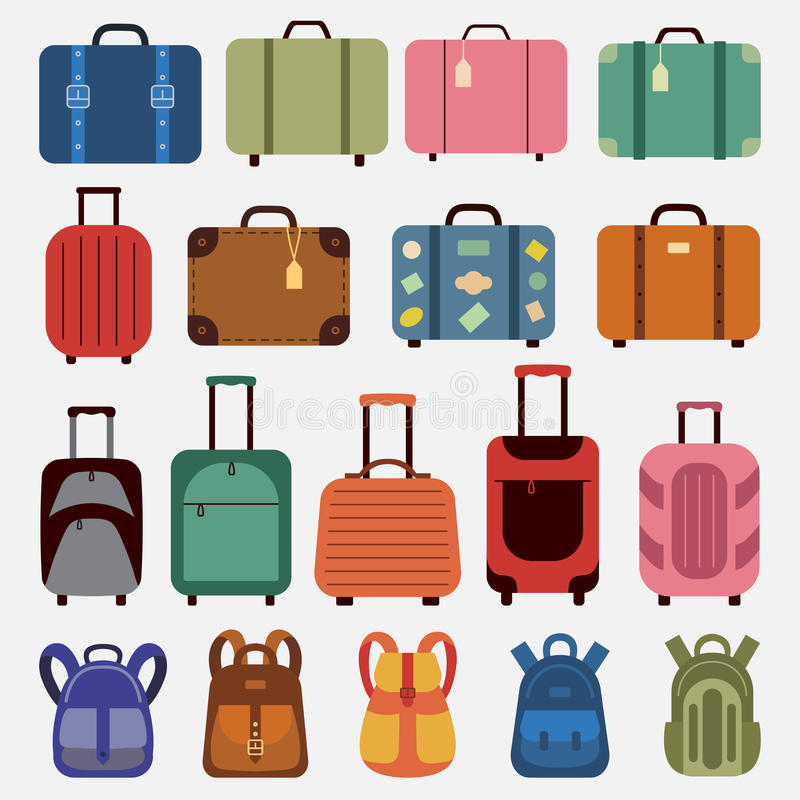Płaski ikona bagaż royalty ilustracja