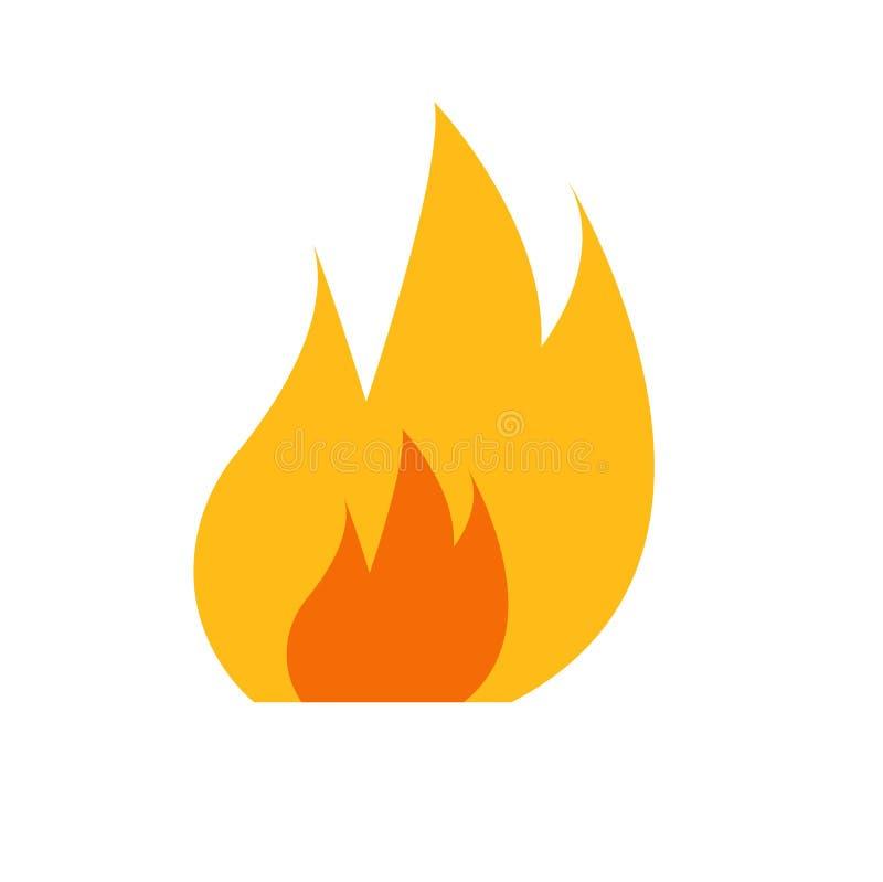 Płaski ikona ogień ilustracja wektor