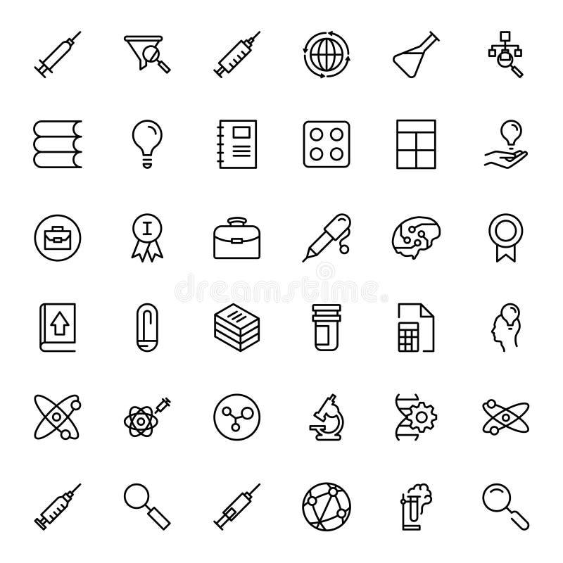 Płaski ikona set ilustracji