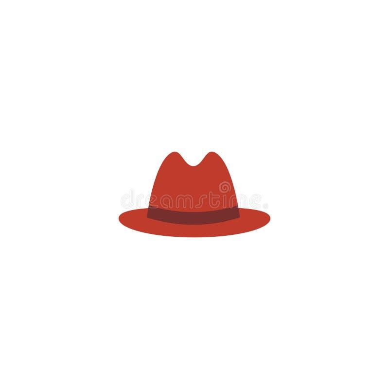 Płaski ikony Panama element Wektorowa ilustracja Płaska ikona Fedora Odizolowywający Na Czystym tle Może Używać Jako Panama ilustracji