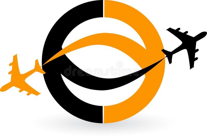 Płaski logo royalty ilustracja