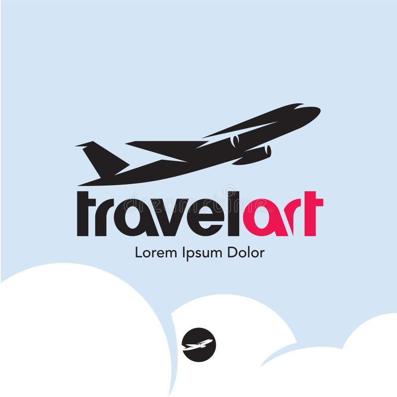 Płaski logo Podróż ilustracji