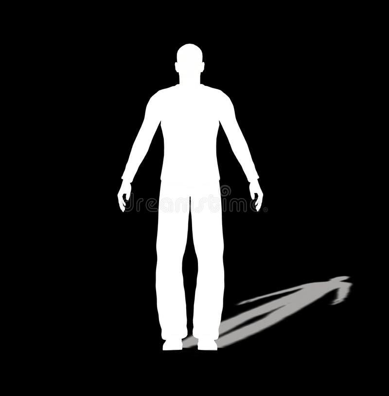 Płaski Mężczyzna ilustracja wektor