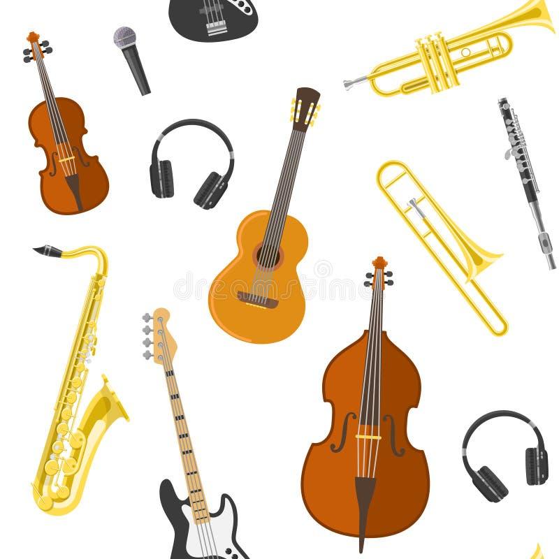 Płaski muzyka wzór ilustracja wektor