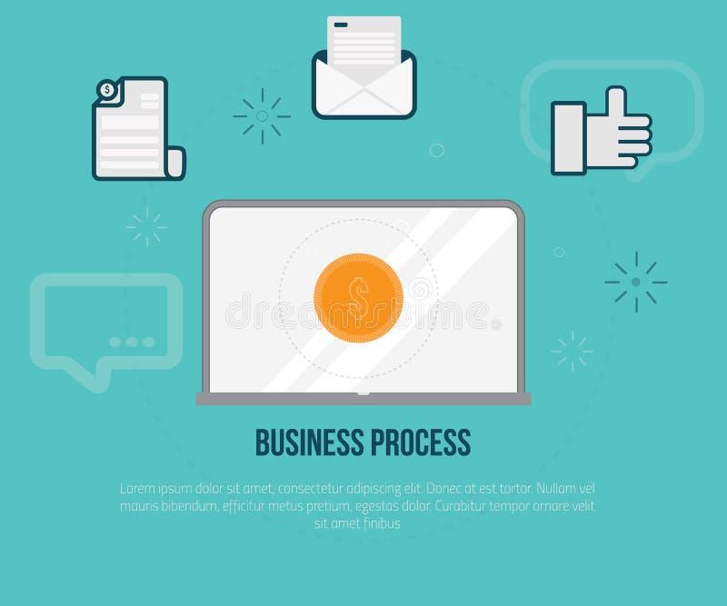 Płaski pojęcie rozwój biznesu, płatniczy infographics w nowożytnym kolorze dla sieć projekta, ilustracja ilustracji