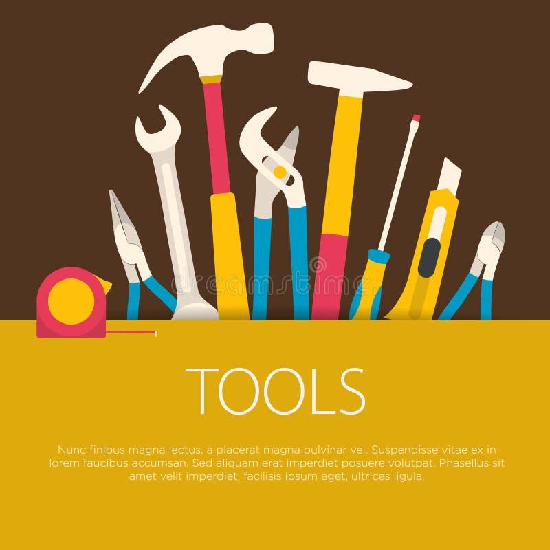 Płaski projektów narzędzi pojęcie ilustracji
