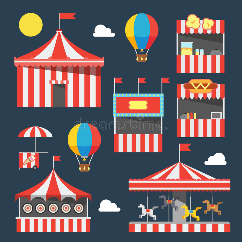 Płaski projekt karnawałowy festiwal royalty ilustracja